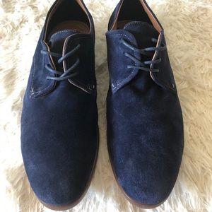 Aldo    Blue Suede Oxford Dress Lace Shoes